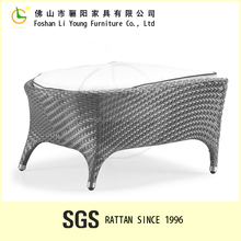 PE Rattan Outdoor Footstool With Waterproof Cushion LG55-8521