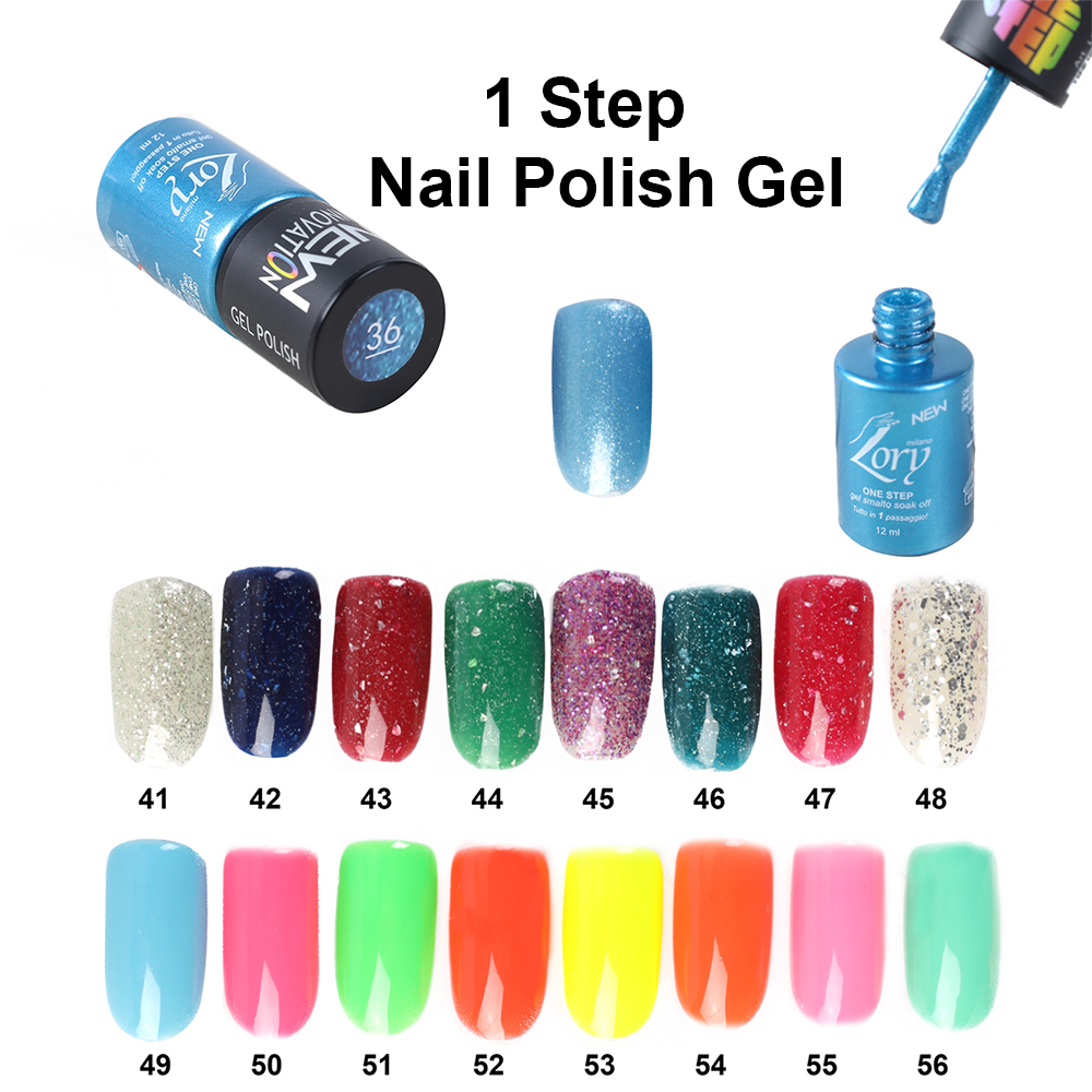 Wholesale Hot Selling 12ml Private Label 1 Step Nail <strong>Gel</strong> UV <strong>Gel</strong> Polish Soak off