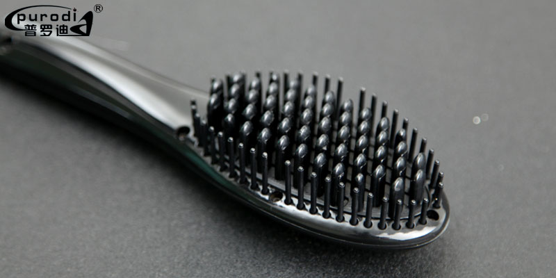 2018 new hot mini fast ceramic hair brush straightener for travel