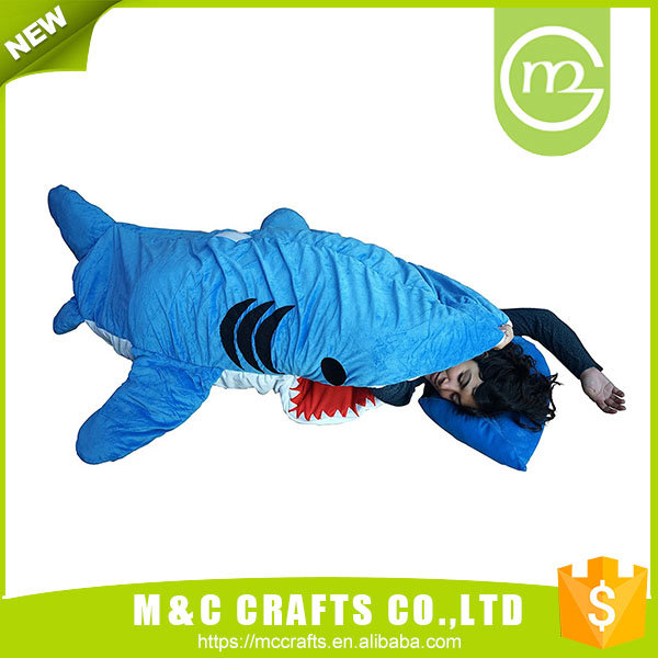 China Manufacture Professional Adult Shark Sleeping Bag