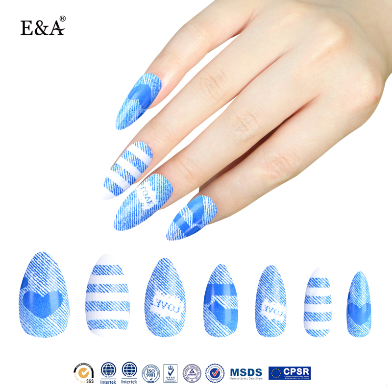 EA fengshangmei free sample oval acrylic false nail tips wholesale full fake nails