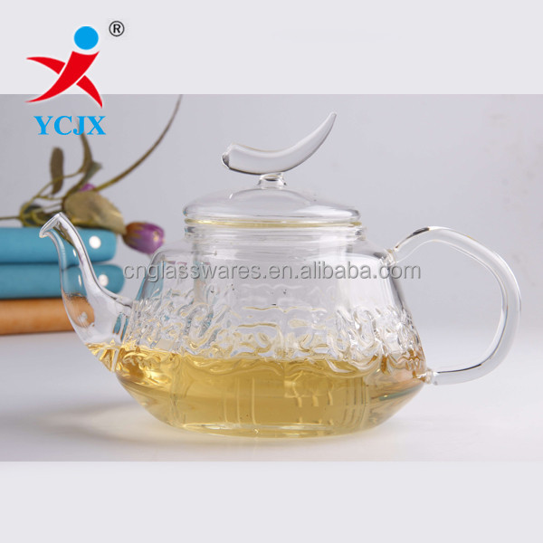 Unique Design Clear Heat-resistant Glass Teapot/ Coffee Sets
