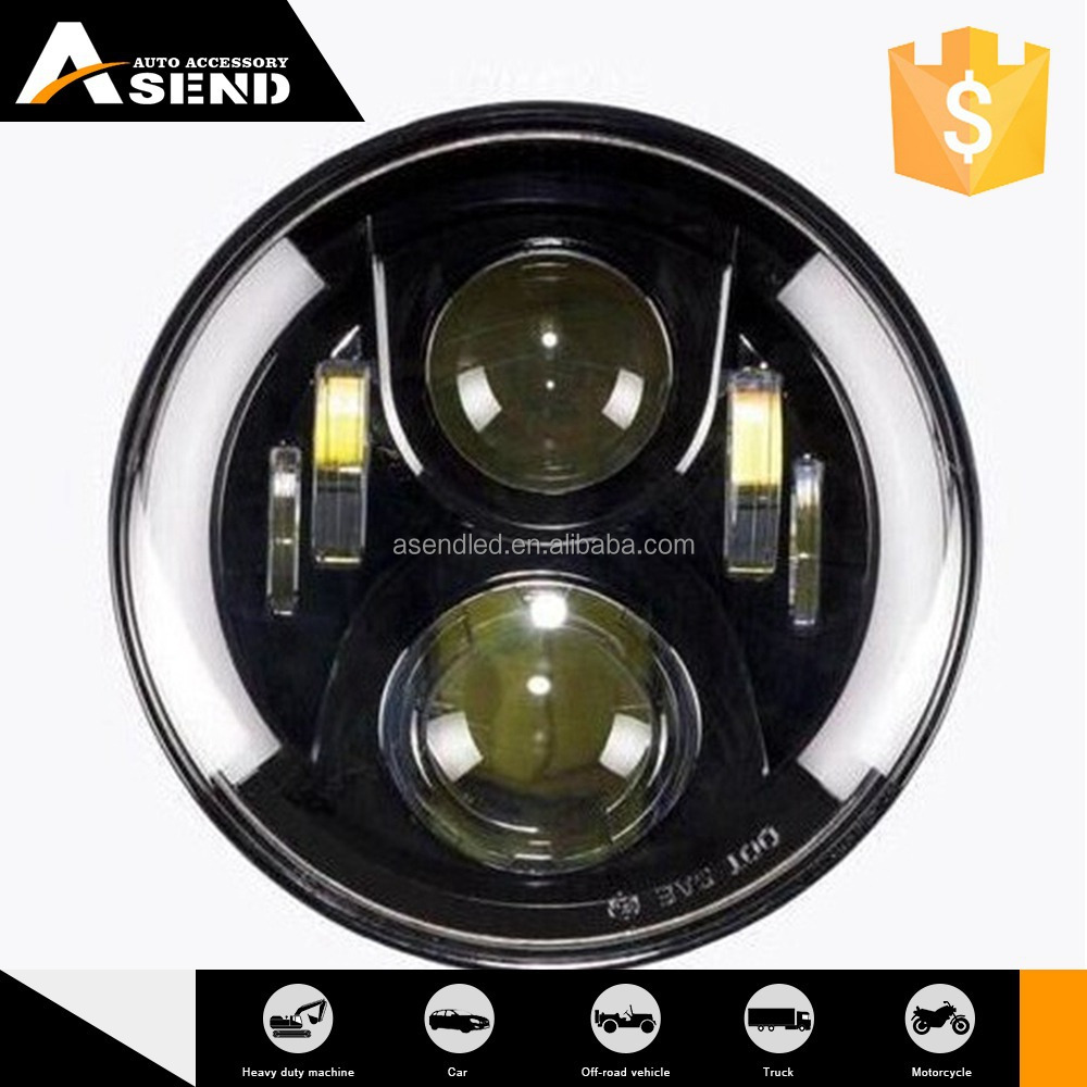 "New Product Top Quality Custom Printed 7"" Led Headlight"