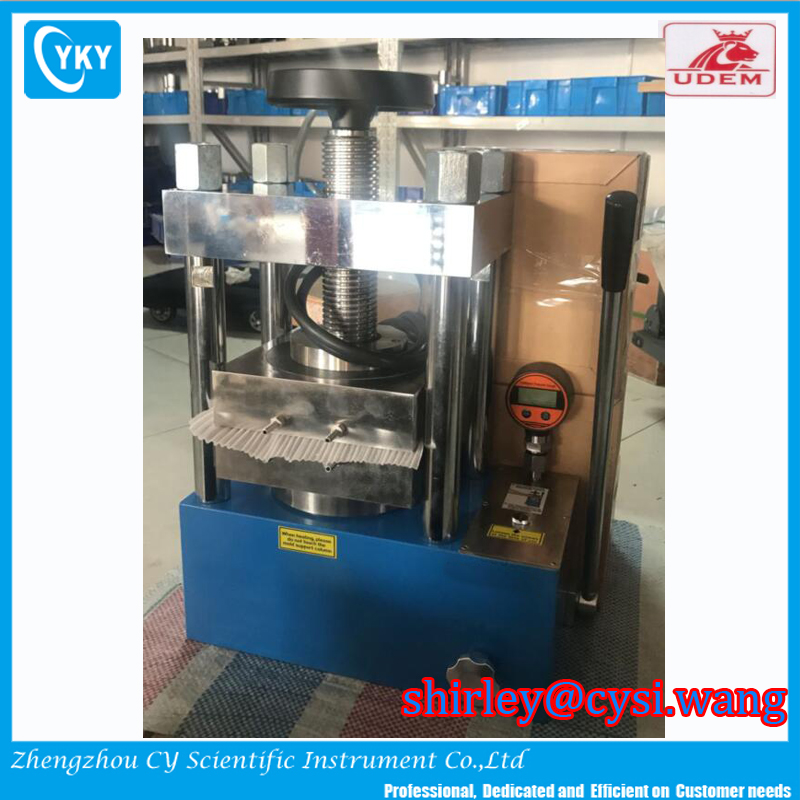 300C 25T heating platens 200x200mm hydraulic thermal lamination press for thin polycarbonate film