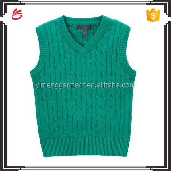 England style V neck sweater vest unifrom sleeveless sweater