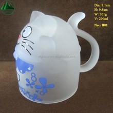 290ml Cute Cat Decal Frosted Drinking Glass