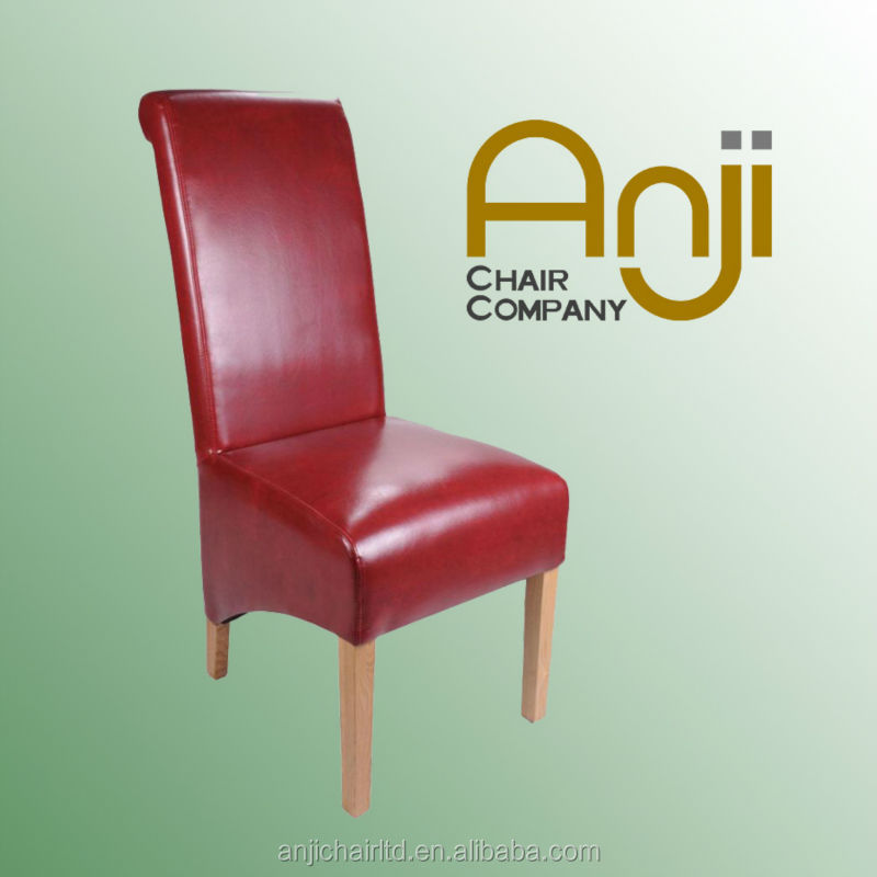 Luxury Red <strong>Leather</strong> Chair For Restaurant Dining Room for Dining Room Furniture