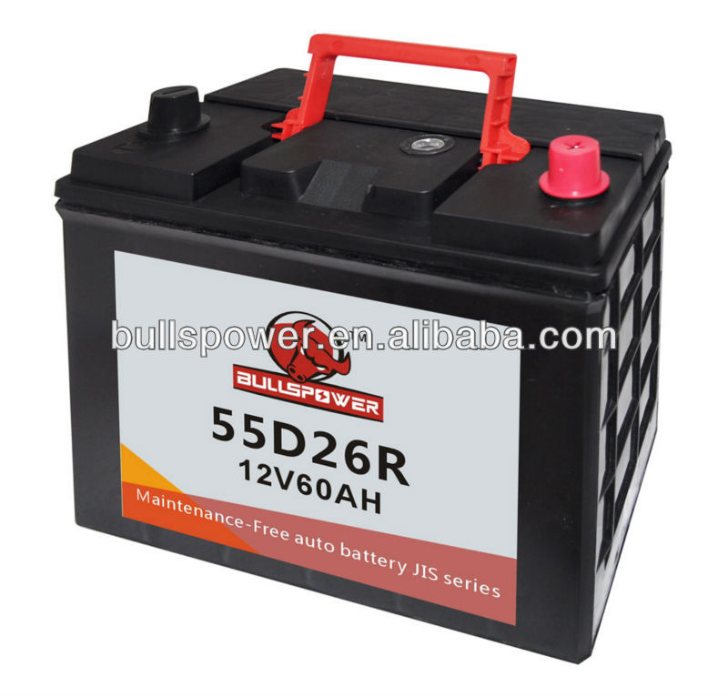JIS/DIN checker auto batteries parts 12v 60ah