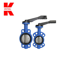 4 Inch Handle Cast Iron Harga Kitz Price Rubber Seal Wafer Type Butterfly Valve