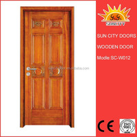 Beauty hand carved pine wood door SC-W012