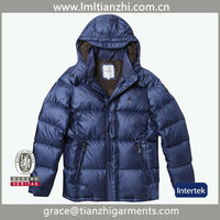 Fashion latest goose down jacket with detachable hood,men down coat for winters from china