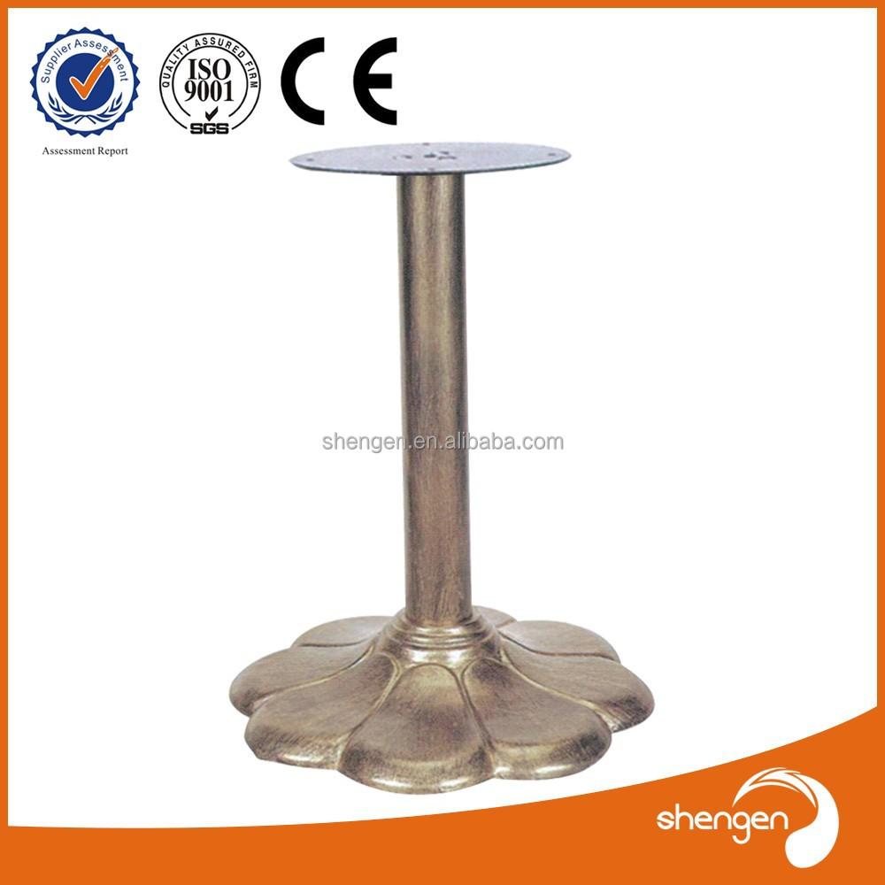 Fleur de base en fonte pied de table en fer forg support for Table exterieur fonte