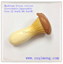 novelty soft stress and stretch mushroom vegetable toys