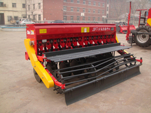 Tractor mounted 14 rows wheat rice alfalfa grass seed drill