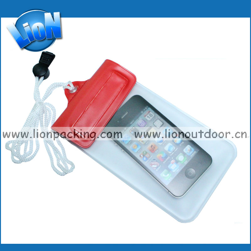 High quality waterproof bag for mobile phone with zipper, mobile phone accessories PVC bags
