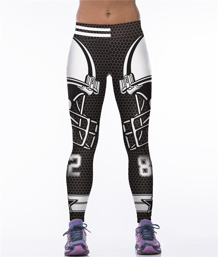 Women America Football Cowboys Custom Printing Yoga Pants