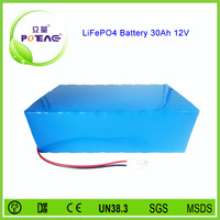 Customized lithium ion rechargeable 12v 30ah solar energy storage battery