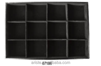 67186 fashion black velvet tray display,12grids