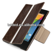 OEM Premium Leather Case for Google Nexus 7 FHD 2013 -- Bellac (Hercules: Espresso Brown / White)