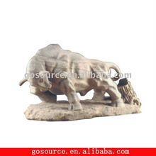 stone bull carving