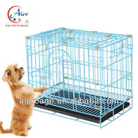 folded metal strong dog cage pet crate wholesale