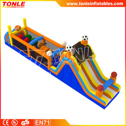 most popular Sports Course inflatable Obstacle Course, giant kids inflatable obstacle