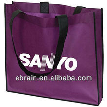 purple eco friendly bag for food package,reusable shopping bag