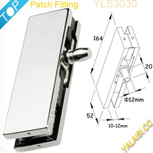304SS cover aluminum alloy body upper patch fitting for 8-12mm tempered glass