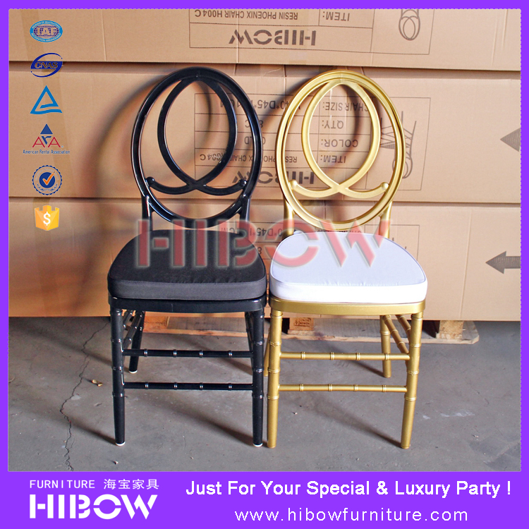 Sale Plastic Resin Gold/Silver Phoenix Chair for Wedding/Events/Party