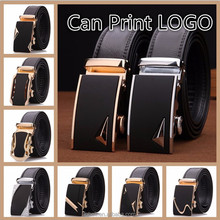 LQbelt factory OEM Genuine leather automatic buckle belt wholesale belts for men stock ratchet belt