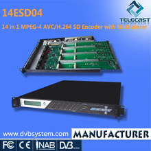 14 in 1 AVC/H.264 SD ASI MPEG-4 Digital Encoder with Multiplexer and Scrambler
