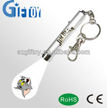 professional led projective flashlight keychain GT-311B