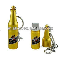 custom logo metal bottle usb flash drive,bottle shaped usb pen drive