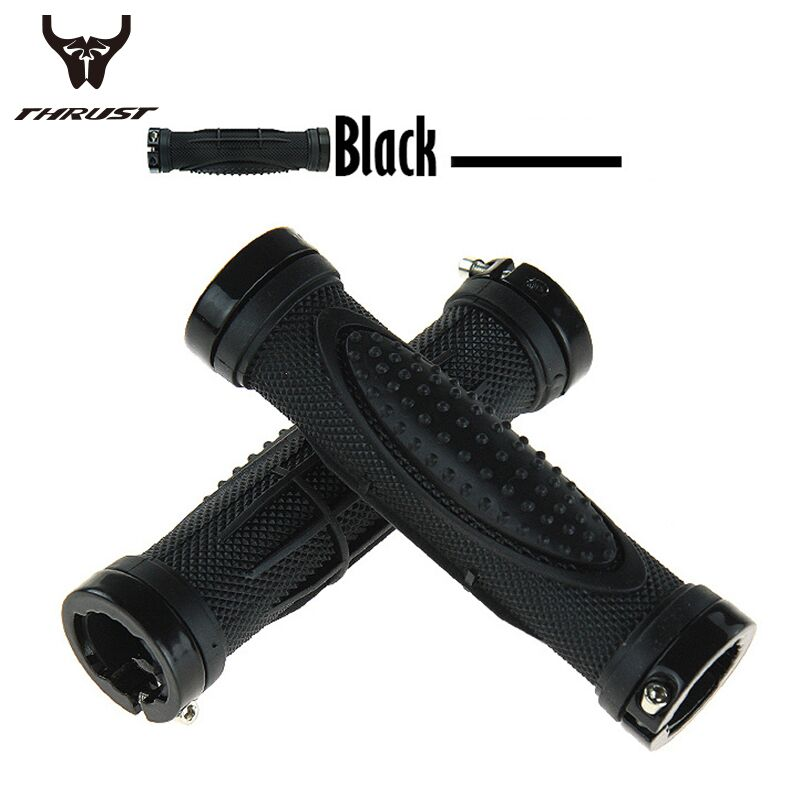 Bicycle Bike MTB Components Bar ends Handlebars Rubber Grips & Aluminum Barend Handle bar Cycling Ergonomic Push On Soft Grips