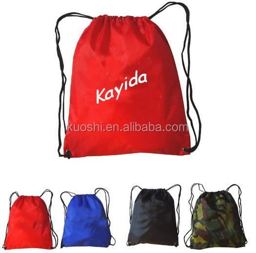 safe rpet nylon foldable drawstring bag for shopping