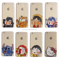 TPU Ultra-thin Colored Cartoon Face Phone Case for Iphone 5s/6/6 plus