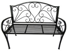 wrought iron double seat Garden Metal Backrest Bench