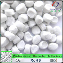 2017 New item strong coloring plastic pellets for injection molding of white masterbatch