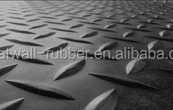 3-6mm diamond rubber mat used for flooring