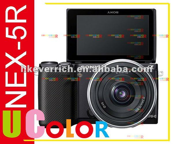 Genuino sony nex-5r 16.1mp wi-fi fotocamere digitali 16-50mm con lente kit