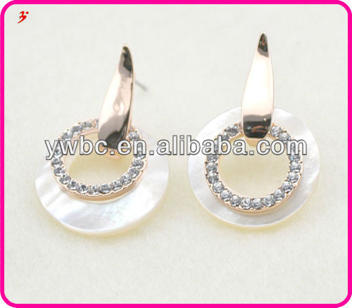 double color disc hoop earrings supplier on alibaba