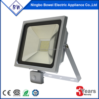 outdoor floodlight with PIR sensor smart slim and driverless led floodlight