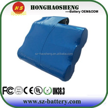 Most popular 3.7v 6000mah rechargeable HS-18650-1S3P li-ion battery pack for heated clothing