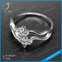 Factory direct supply 925 sterling silver couple ring