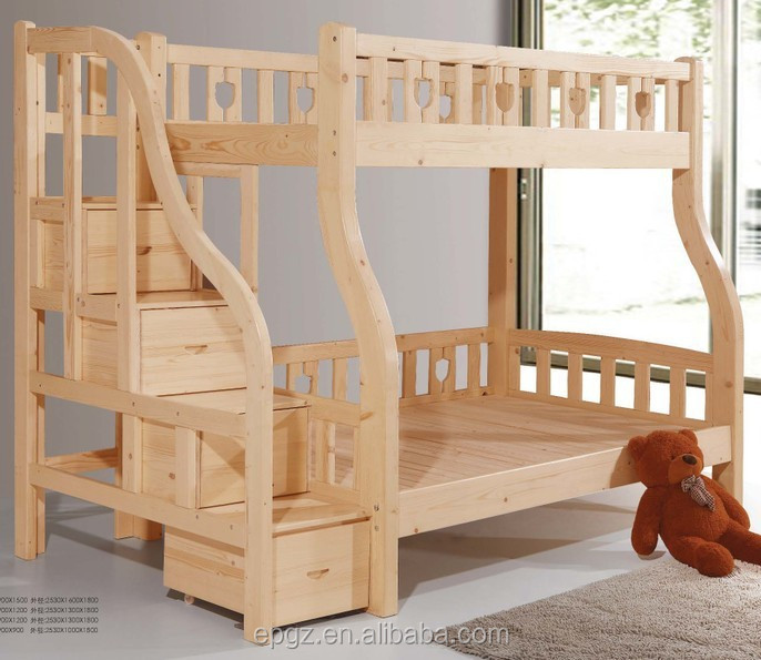 doppel langlebig modernen erwachsene massivholz hochbett buche massivholz kinder. Black Bedroom Furniture Sets. Home Design Ideas