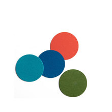 Wholesale colorful DIY round laser cut polyester felt drink coaster