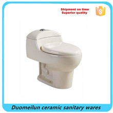 South America Ivory Color Siphonic One Piece Ceramic Toilet