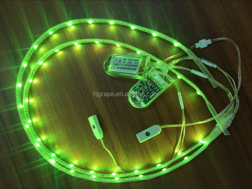 24 leds RGB 3.7v 3528 led charging light for shoe sole Led strip light for footwear