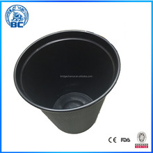 Black Fashion Hot Sale Plastic Trash Cans