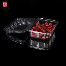 1500g PET Fruit Packaging Containers Clear Blister Box For Cherry
